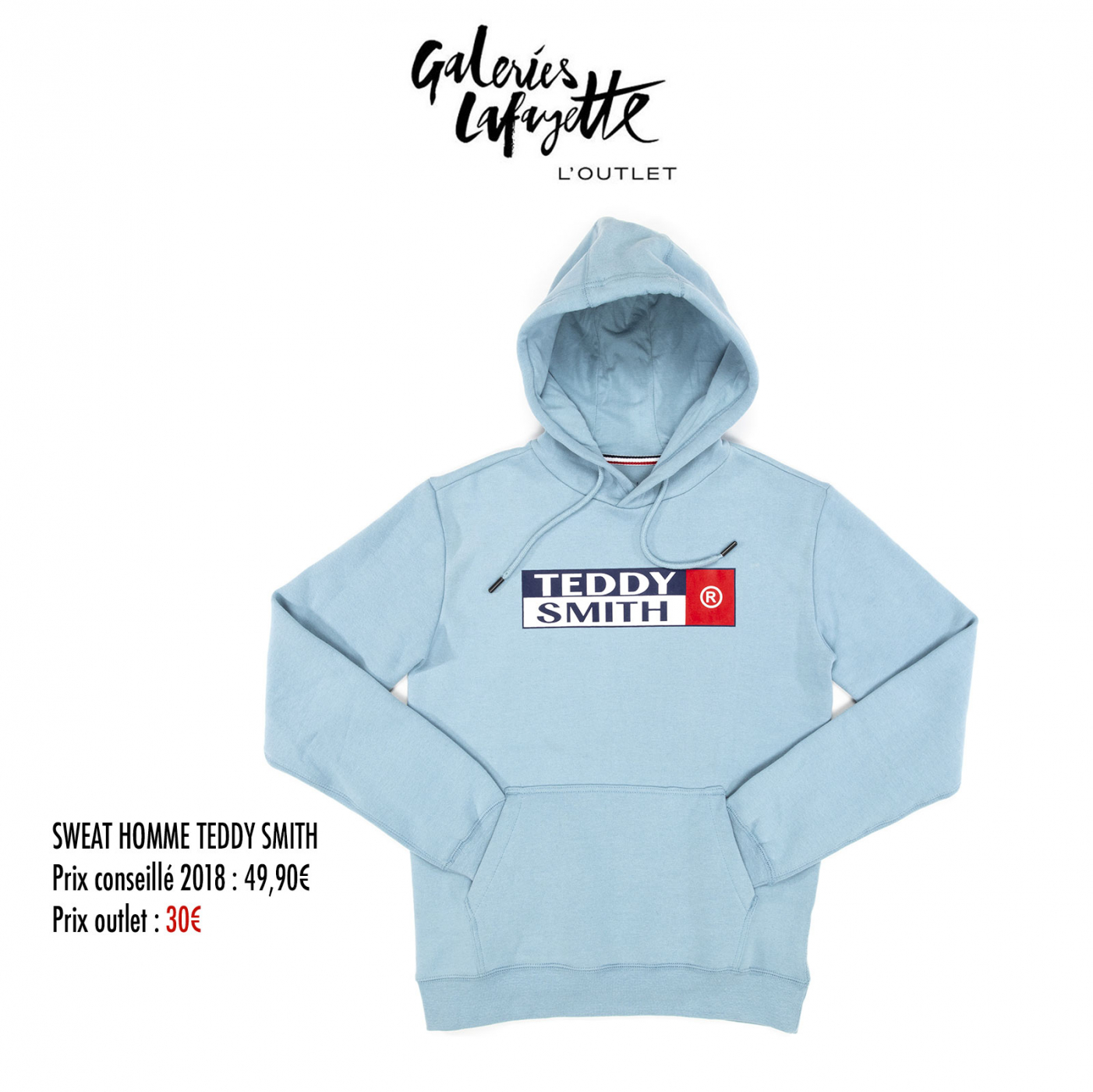 Sweat Homme Teddy Smith - Galeries Lafayette L'Outlet