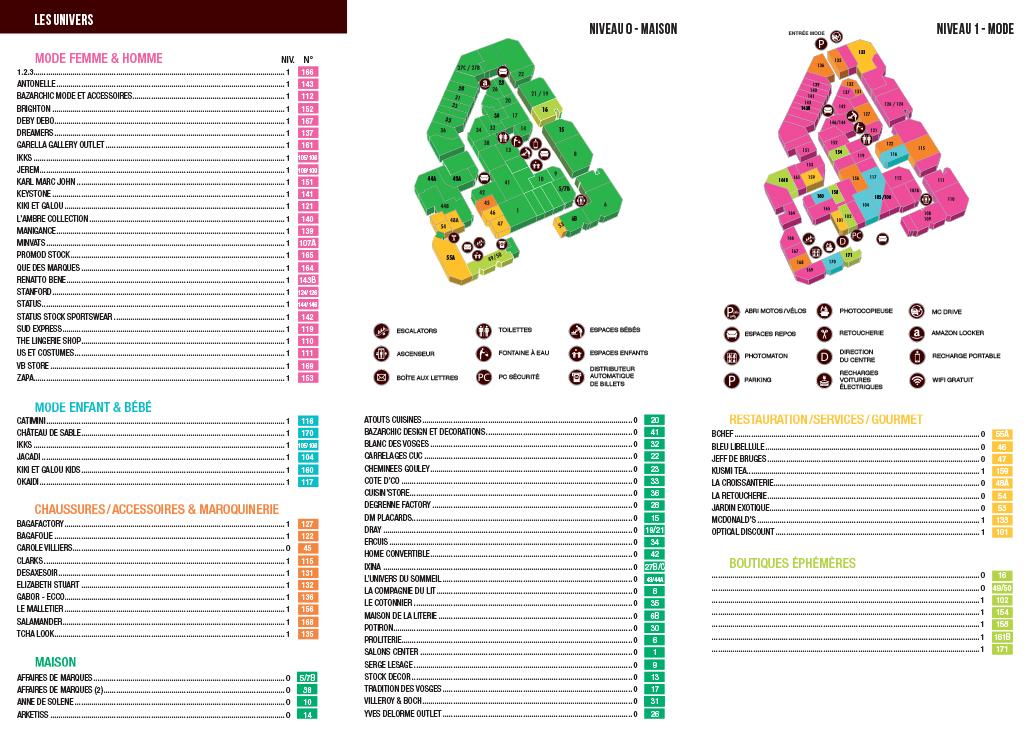 Plan du centre (avril 2018)