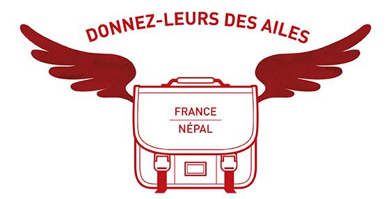 Logo Donnez-leurs des ailes France-Népal