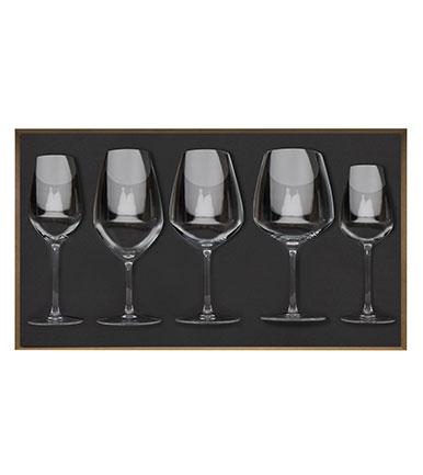 Coffret bois de 5 verres à pied Origine - Degrenne Factory