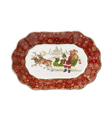 Toy's Fantasy : Plat ovale Père Noël - Villeroy & Boch
